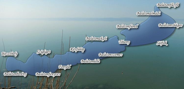 A Balaton Térkepe - Olcsó Balatoni Szállások Gyűjteménye