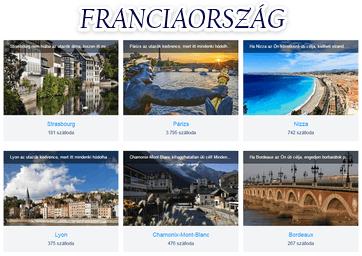 Franciaország szállás