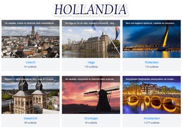 Hollandia szállás