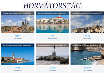 Horvátország szállás